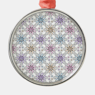 Colorful interlocking bicycle, wow! Silver-Colored round decoration