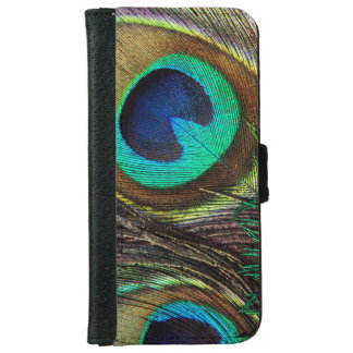 Colorful Iridescent Peacock Feather iPhone 6 Wallet Case