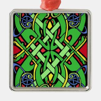 Colorful Irish Celtic Knot Christmas Ornament
