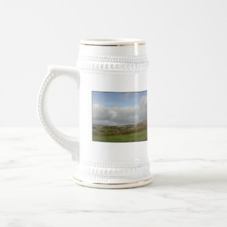Colorful Irish Village Scene. Beer Stein