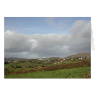 Colorful Irish Village Scene. Card