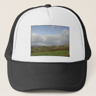 Colorful Irish Village Scene. Trucker Hat