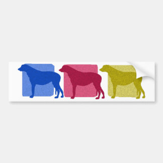 Colorful Irish Wolfhound Silhouettes Bumper Sticker