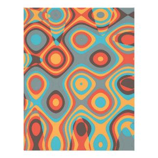 Colorful irregular shapes 21.5 cm x 28 cm flyer