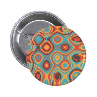 Colorful irregular shapes 6 cm round badge