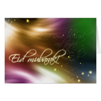 Colorful Islamic Eid greeting card Adha&Fitr