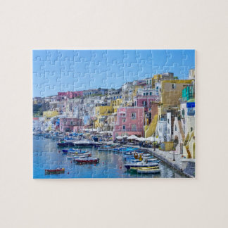 Colorful Italy Fishing Harbor Jigsaw Puzzle