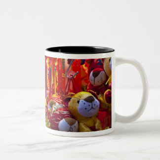 Colorful items for sale in a shop in Hong Kong Two-Tone Coffee Mug