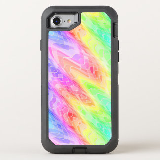 Colorful Jagged Lines Abstract OtterBox Defender iPhone 8/7 Case