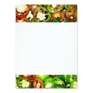 Colorful Jalapeno Pepper Slices 14 Cm X 19 Cm Invitation Card