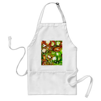 Colorful Jalapeno Pepper Slices Aprons
