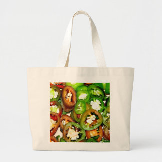 Colorful Jalapeno Pepper Slices Tote Bag