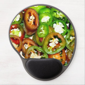 Colorful Jalapeno Pepper Slices Gel Mouse Mats
