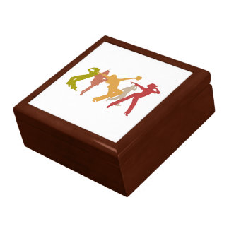 Colorful Jazz Dancers Large Square Gift Box