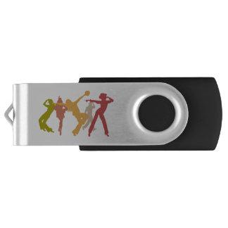 Colorful Jazz Dancers USB Flash Drive