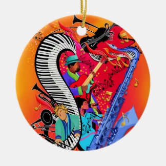 Colorful Jazz Music Art Ornament Gift
