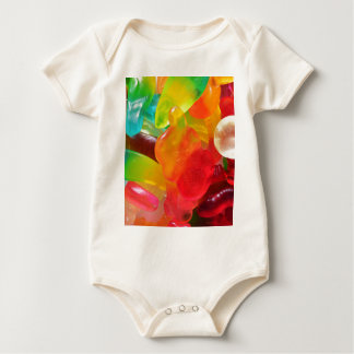 colorful jelly gum texture baby bodysuit