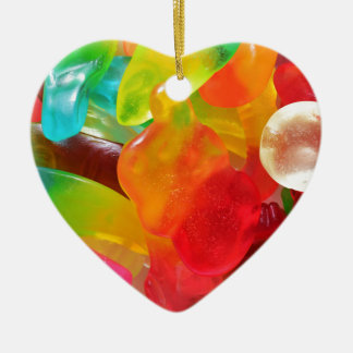 colorful jelly gum texture ceramic heart decoration