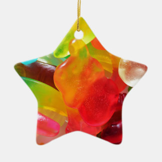 colorful jelly gum texture ceramic star decoration