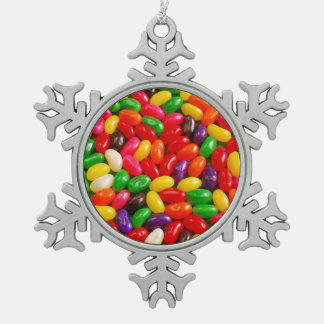 Colorful jellybean candy christmas ornament