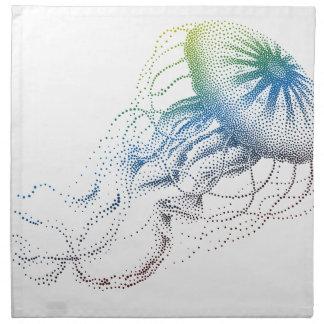 colorful jellyfish napkin