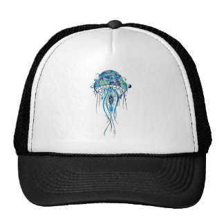 Colorful Jellyfish Tattoo Style Cap