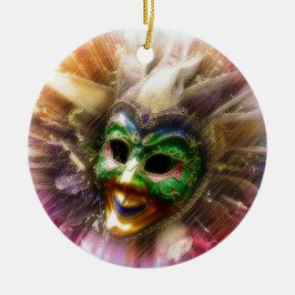 Colorful Jester Round Ceramic Decoration