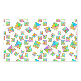 Colorful jewel toned summer colors abstract art business card templates