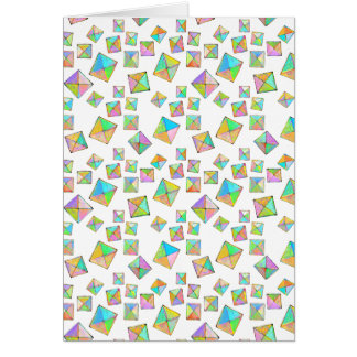 Colorful jewel toned summer colors abstract art cards