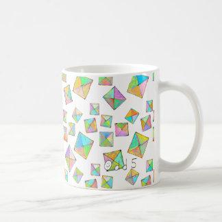 Colorful jewel toned summer colors abstract art coffee mug