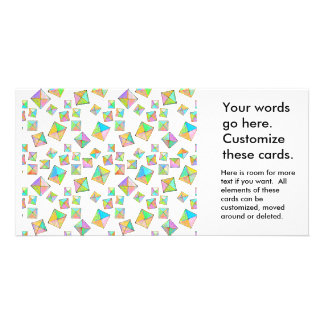 Colorful jewel toned summer colors abstract art custom photo card