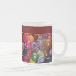 Colorful Jewelry Beads Frosted Glass Coffee Mug