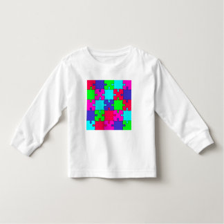 Colorful Jigsaw Puzzle Toddler T-Shirt