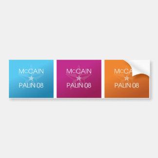 Colorful John McCain * Sarah Palin 2008 Bumper Sticker