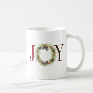 Colorful JOY Wreath Mug