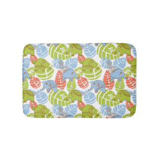 Colorful Jungle Elephants Bath Mats
