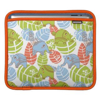 Colorful Jungle Elephants iPad Sleeve
