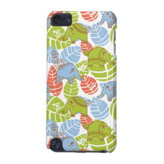 Colorful Jungle Elephants iPod Touch (5th Generation) Cases