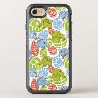 Colorful Jungle Elephants OtterBox Symmetry iPhone 8/7 Case