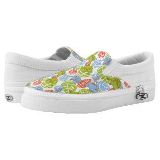 Colorful Jungle Elephants Slip On Shoes