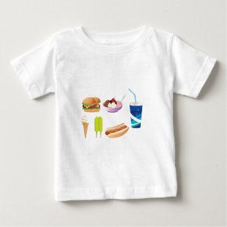 Colorful junk food design t shirts