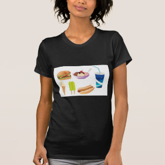 Colorful junk food design tshirt