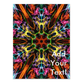 Colorful Kaleidoscope Abstract Art Magnetic Invitations