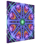 Colorful kaleidoscope abstract wrapped canvas canvas prints