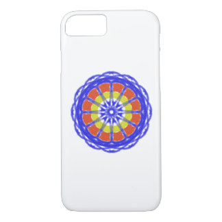 Colorful kaleidoscope circle pattern iPhone 8/7 case