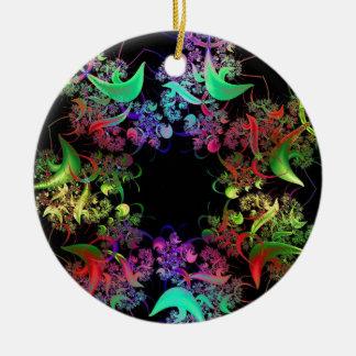 Colorful Kaleidoscope Design Fractal Art Gifts Round Ceramic Decoration