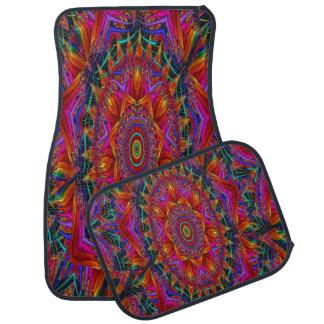 Colorful Kaleidoscope Design Set of 4 Car Mats