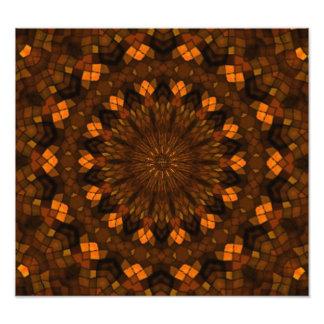 Colorful kaleidoscope mosaic photo