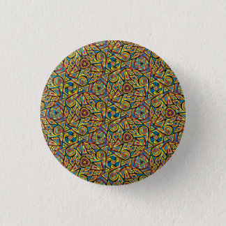Colorful kaleidoscope pattern button
