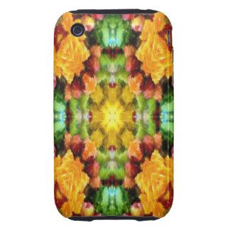 colorful kaleidoscope pattern tough iPhone 3 case